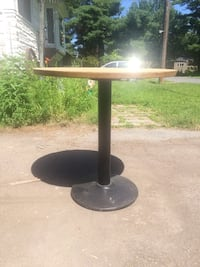 Black and Beige Wood and Metal Table 715 km