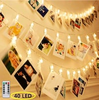 8 Modes 40 LED Photo Clip String Lights w/ Remote Alexandria, 22304