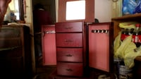 jewelry box with mirror and drawers Brownwood