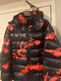 Moncler style Valentino Camouflage Down Coat