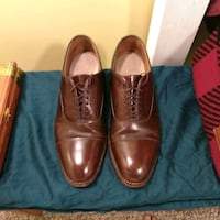 American made walnut brown leather dress shoes siz New York
