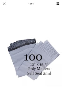"""100 poly shipping mailers 12""""x15.5"""" eBay  Winslow, 04901"""
