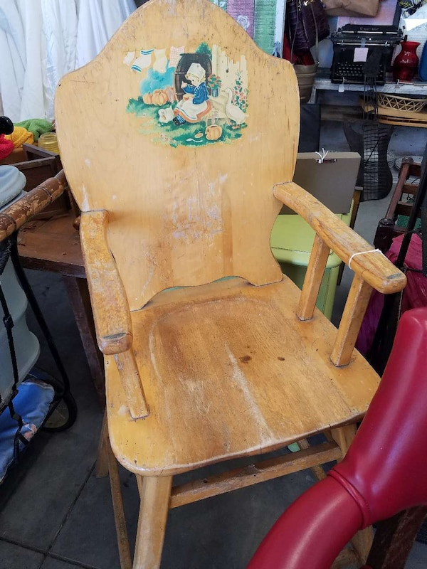 Antique High Chair - Used Antique High Chair For Sale In Kennewick - Letgo