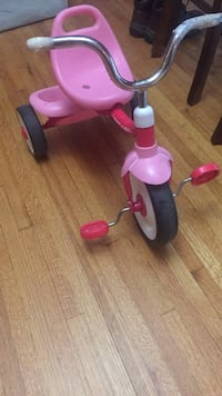 toddler's pink and purple trike