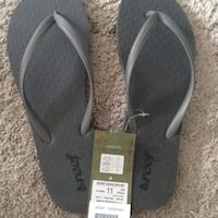 Pair of black reef flip-flops brand new women's size 11