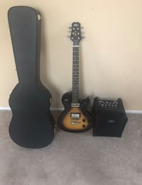 Peavey SC-2 Single Cut Series guitar, hard case and Peavey Nano Vypyr amp. Herndon, 20170