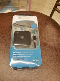 black Warner micro usb travel charger in box Toledo, 43612