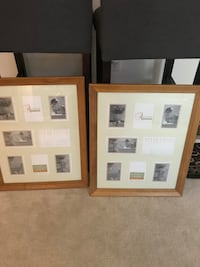 Two Allyssa solid oak multi-opening matted collage frames.