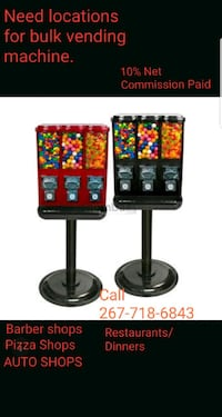 Looking to place candy machines  Hatfield