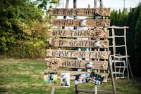 Remembrance sign for wedding Happy Valley, 97015