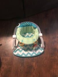 baby's white and blue chevron bouncer Great Falls, 59401