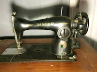 black and brown Singer sewing machine Deep Run, 28525