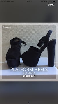 Platform heels fra NLY shoes i str. 36