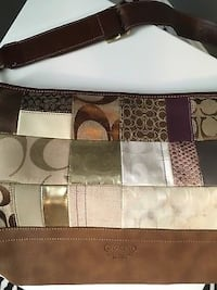 brown and white Coach monogram leather handbag Youngstown, 44514