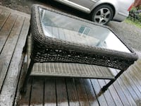 Wicker and glass patio table Bonney Lake, 98391