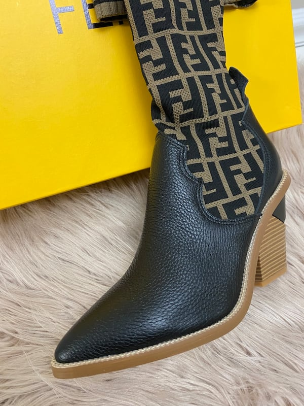 Fendi Monogram Sock Boots size 38/7.5/8 0