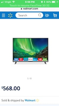 black flat screen LED TV