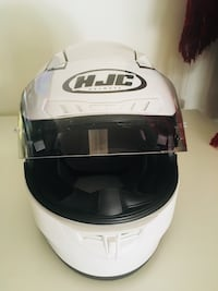 White and black hjc full-face helmet Centreville, 20120