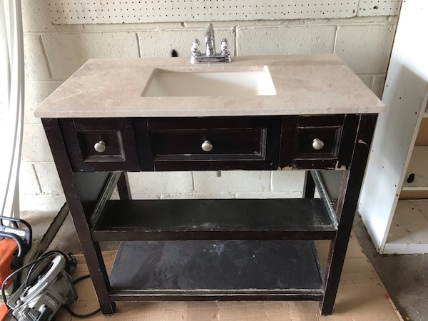 "36"" Bathroom Vanity and Faucet"