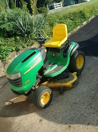 green and yellow John Deere ride on lawn mower Belle Vernon, 15012