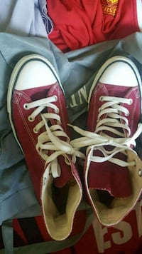 pair of red Converse All Star high-top sneakers Singapore