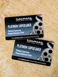 Cinemark Platinum Supersaver Movie Tickets, 2pk
