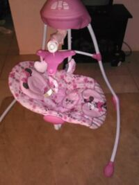 baby's pink and white cradle and swing Port Richey, 34668