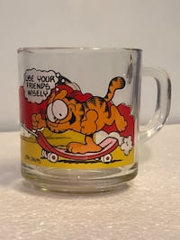 Rare 1978 Garfield and Odis Collectible Glass Mug 12 km