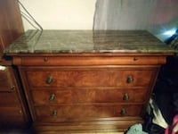 Marble Top wood dresser Simi Valley, 93063