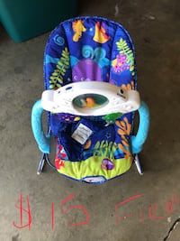 baby's blue and white bouncer Merced, 95340