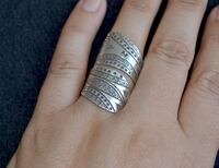 Wide ring, Tribal ring, Wide Boho Ring, Sterling silver  Toronto