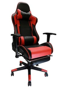 Racing Style Gaming Chair Red and White Toronto