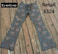 $324 BEBE LEATHER Beaded EMBELLISHED Pants SIZE 4 CAPITOLHEIGHTS