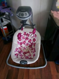 baby's white and pink cradle and swing Clayton, 27520