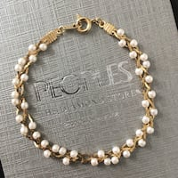 Vintage Gold and Pearly Bracelet Cambridge, N3H