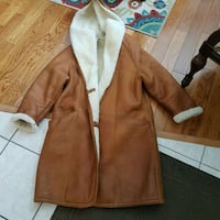 Hide society leather brown jacket Calgary, T1Y