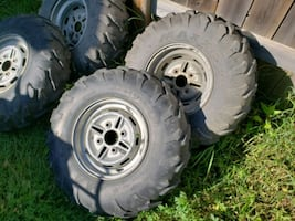 Maxxis tire set 4x110 bolt x 12 inch rims