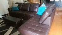 brown leather tufted sectional sofa Innisfil, L9S
