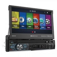 """Soundstream VRN-74HB 1-DIN GPS/DVD/CD/MP3/AM/FM Receiver with 7"""" LCD/Bluetooth/MobileLink X2 Gause, 77857"""