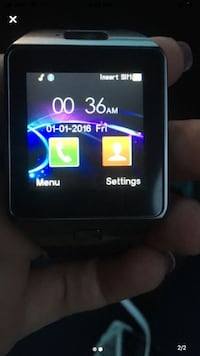 Black  smartwatch phone