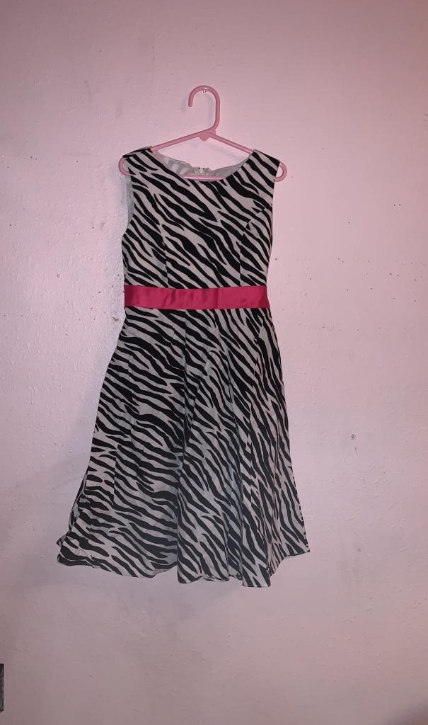 Photo Dress/girls/zebra print/church/Childrens Place/8