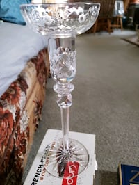 Glass candle holder from Yugoslavia