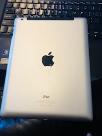 Silver ipad with black case