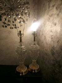 lamp vintage Crystal and Brass lamps