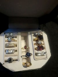 Assorted silver rings Surrey, V3W