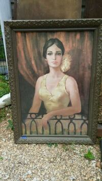 Huge antique oil painting Heflin, 36264
