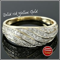 Gold and Diamond encrusted ring Houston, 77073