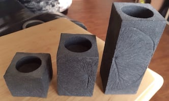 3 Tier Stone Tealight Holders... $10...