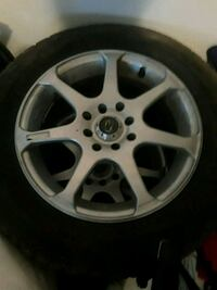 Rims with tires included for sale >> 195/65R15<< Brampton, L6Z 3T9