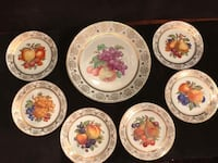 Bavaria German fruit pattern cake plate set Toronto, M2R 3N1